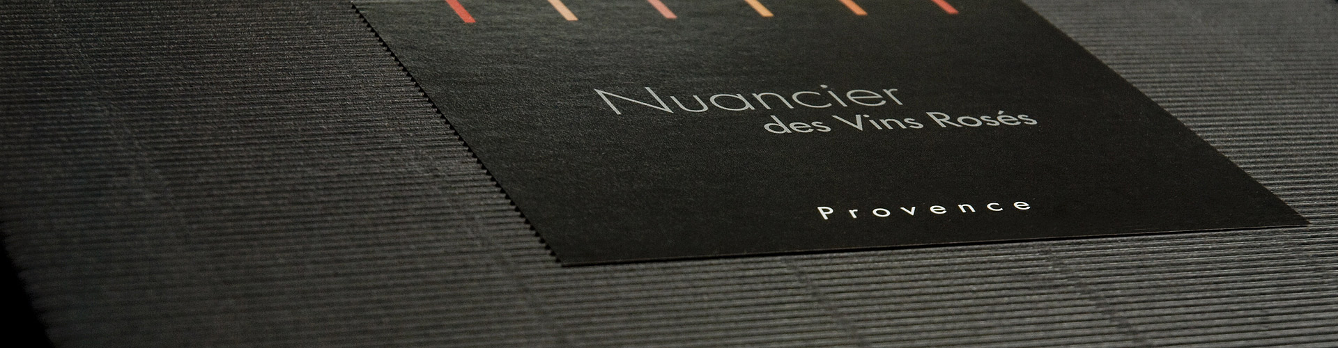 Packaging du Nuancier des Vins Roses de Provence