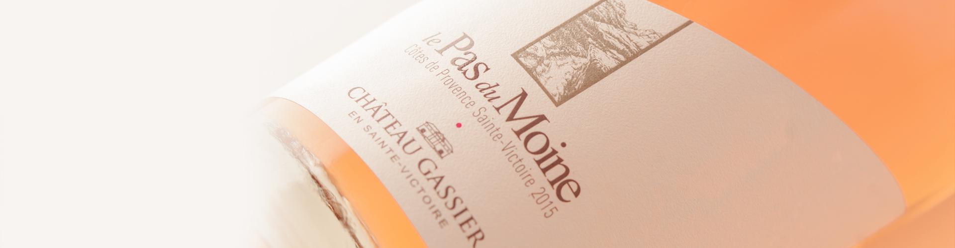 Le Pas du Moine, Château Gassier, Packaging